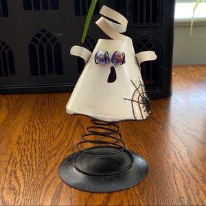 NWOT Metal Spring Ghost 3D tea light candle holder